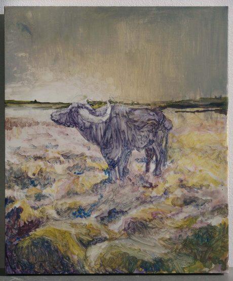 Second Bull, 2014 // 190 x 230 mm // Oil on Board